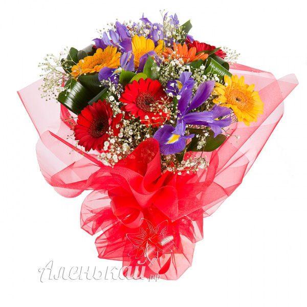 Букет из гербер Фламенко заказать, купить с доставкой Магазин цветов и флористики Аленькай.рф - Alenkai.Ru